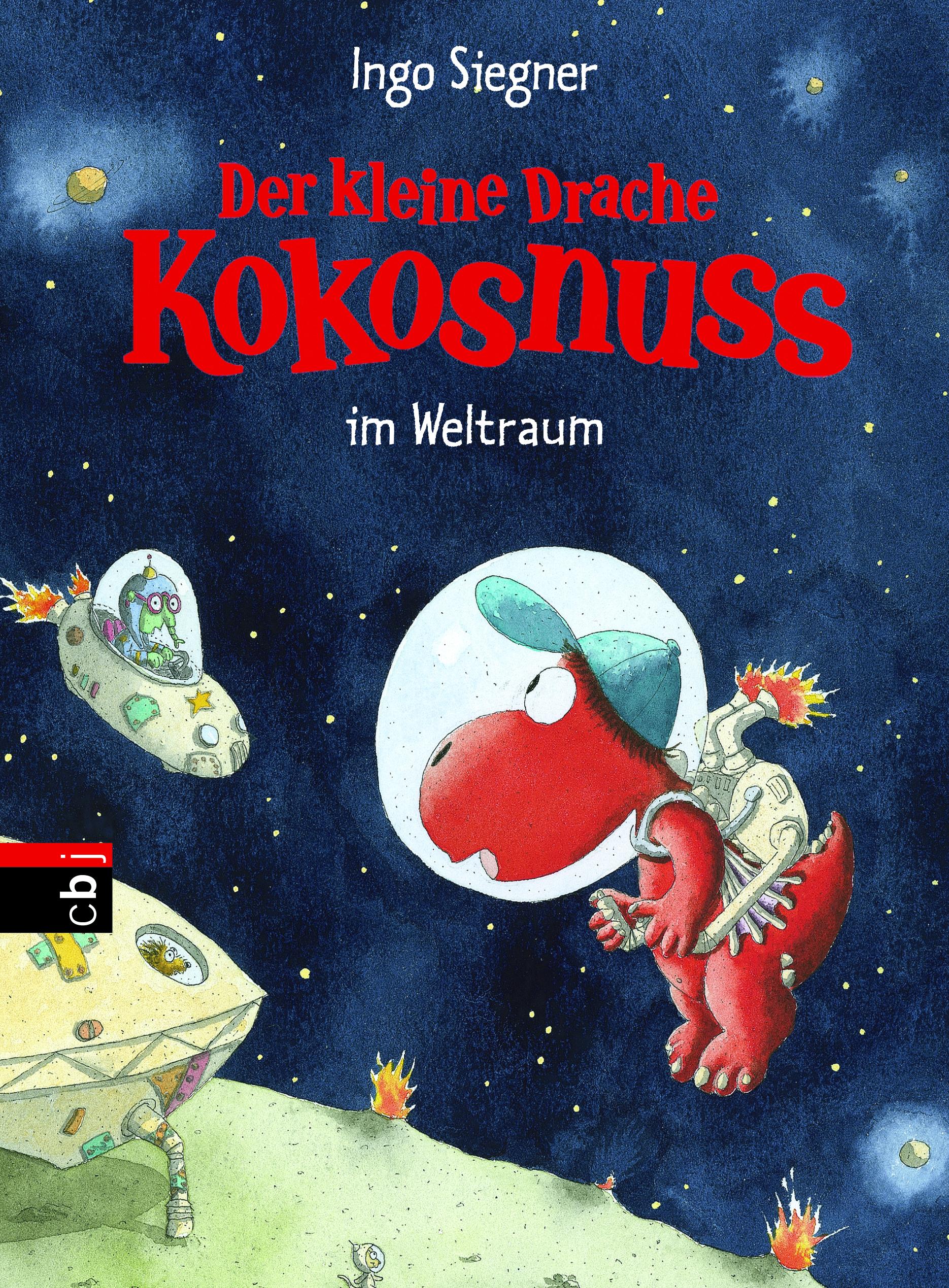"""Buchcover """"Der kleine Drache Kokosnuss im Weltraum"""""""